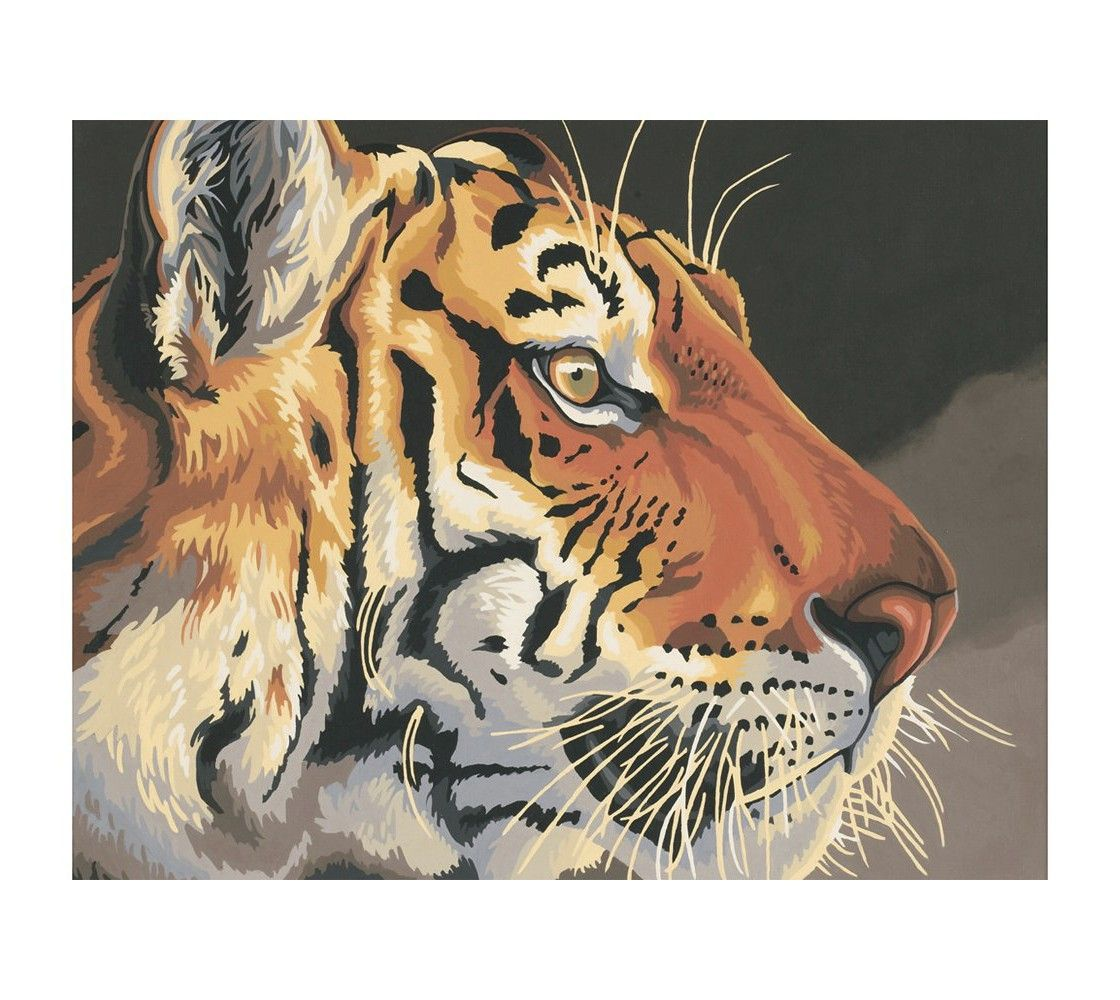 """Paint by Number Kit - Regal Tiger (20x16"""")"""