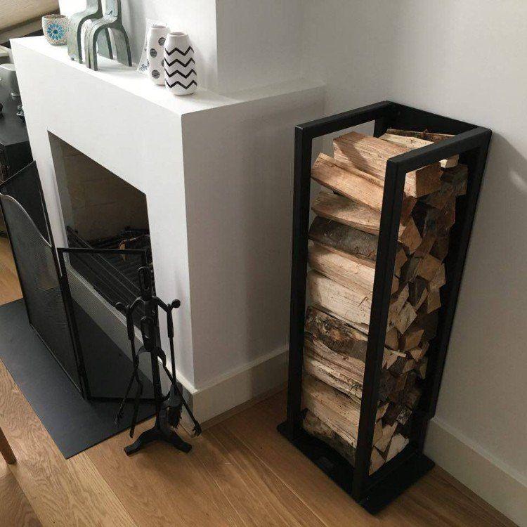 rangement bois de chauffage int rieur id es chics de support b ches deco. Black Bedroom Furniture Sets. Home Design Ideas