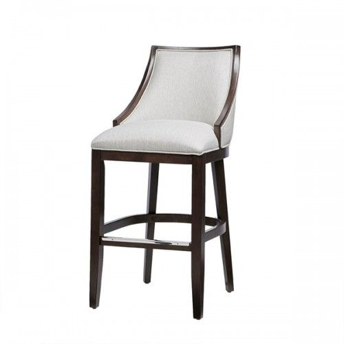 Cream Herringbone Slope Back Bar Stool Bar Stools White Leather