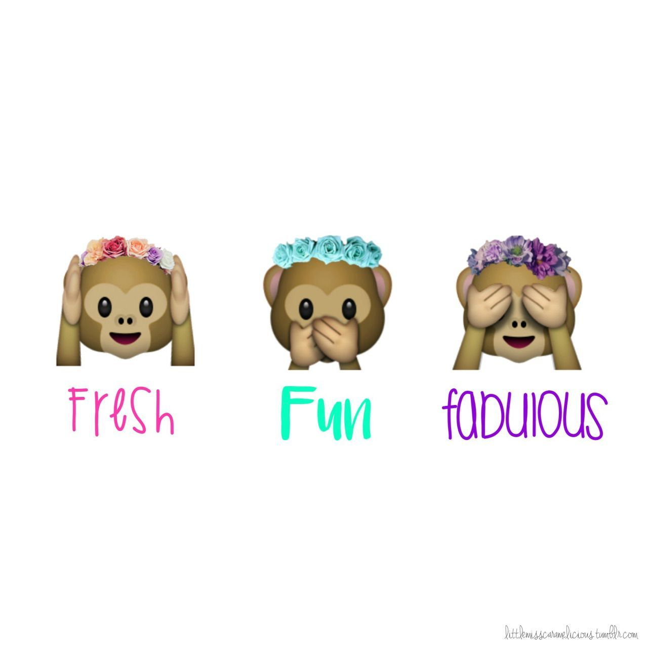 Awesome emoji monkey with flower crown wallpaper and view
