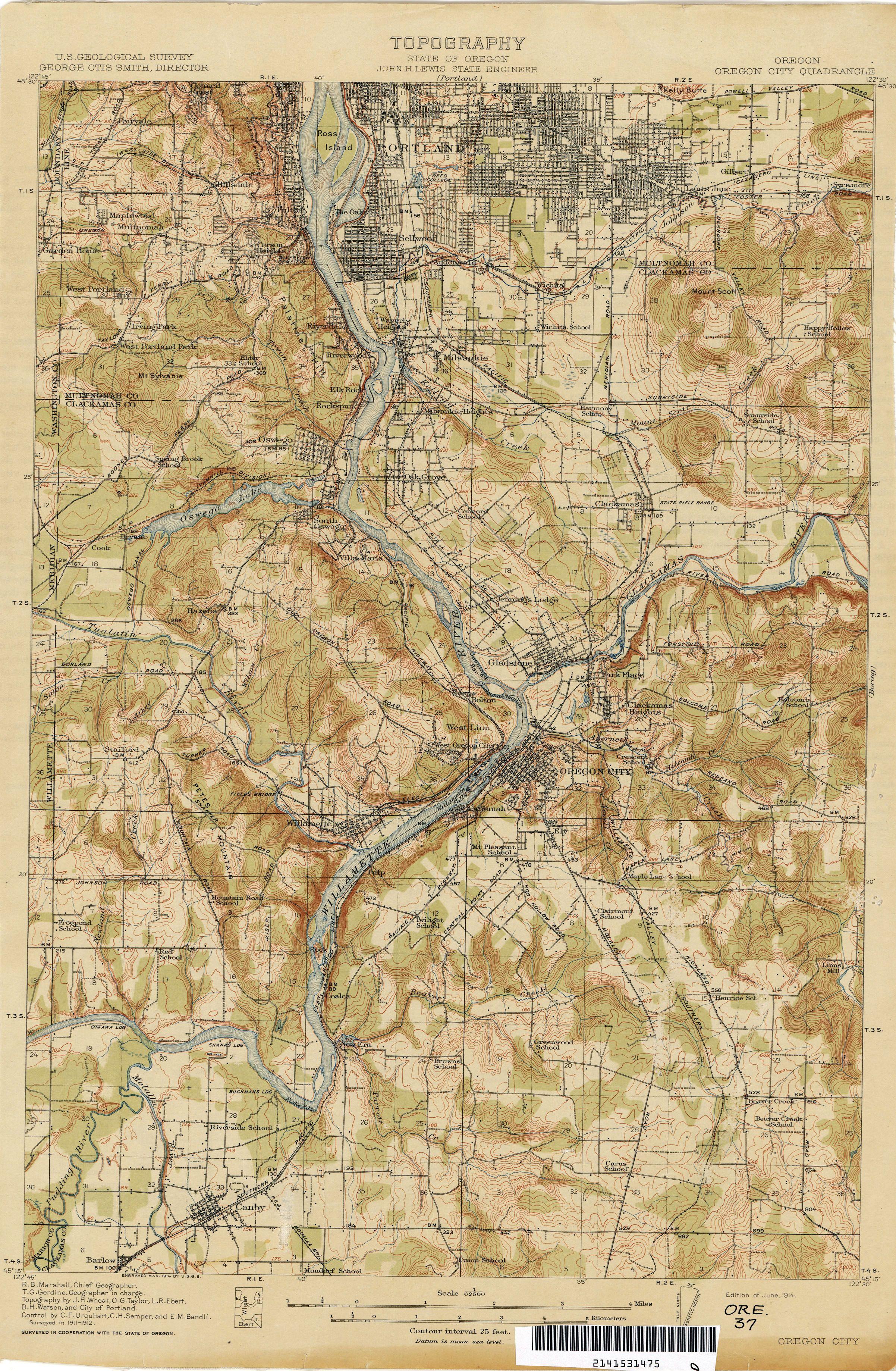 txupclmapstopoororegoncity1912jpg 24033675 Maps Pinterest
