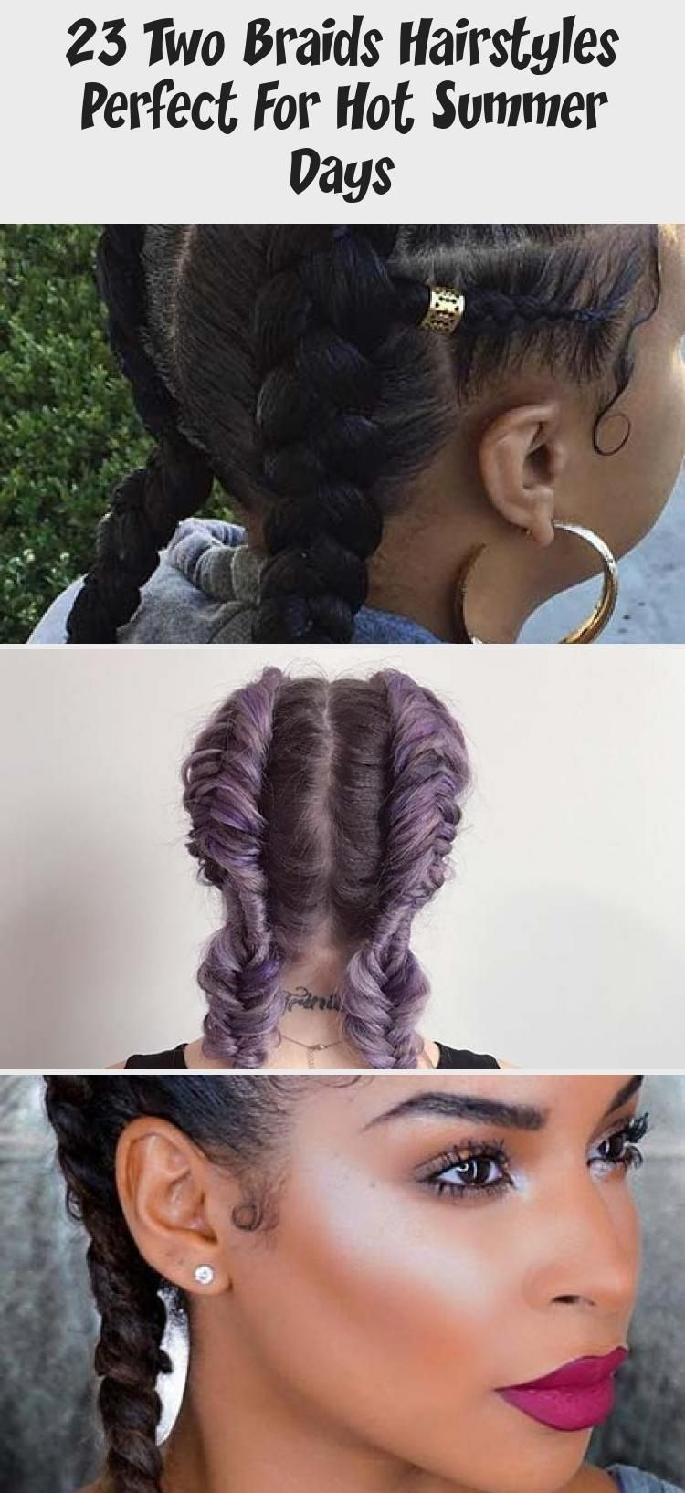 Two Braids with Curly Weave curlyhairAfricanAmerican