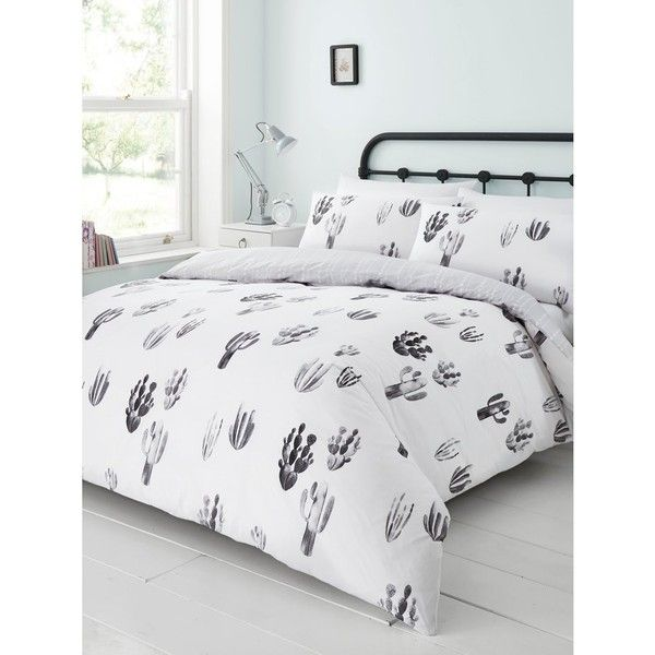 M Co Cactus Print Duvet Set 56 Liked On Polyvore Featuring