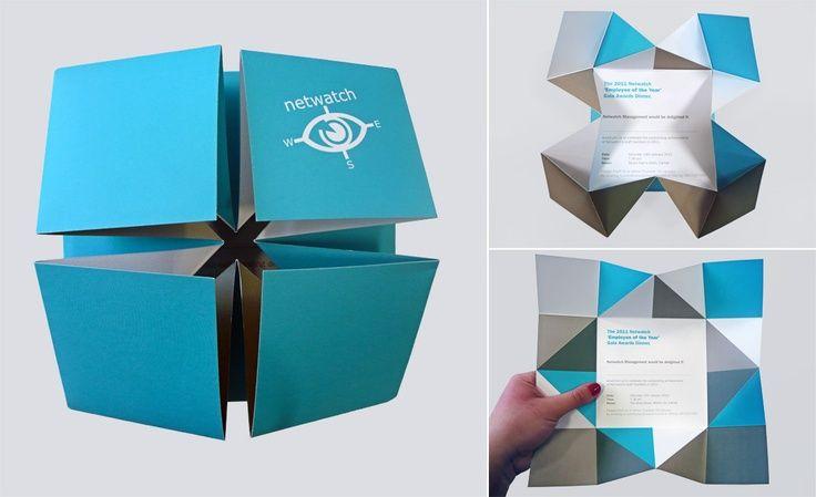 Origami Broschürendesign Grafikdesign Typografie Und