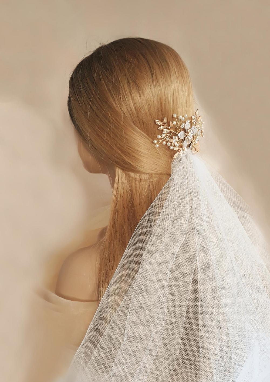 Haarschmuck Braut Gold Braut Haarkamm mit Strass Hochzeit