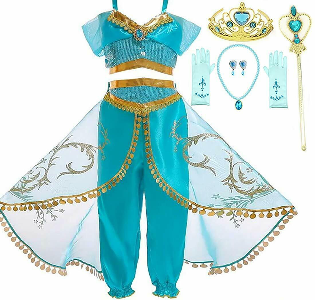 Romy S Collection Arabian Princess Jasmine Party Dress Up Set Princess Costumes For Girls Princess Dress Kids Little Girl Princess Dresses