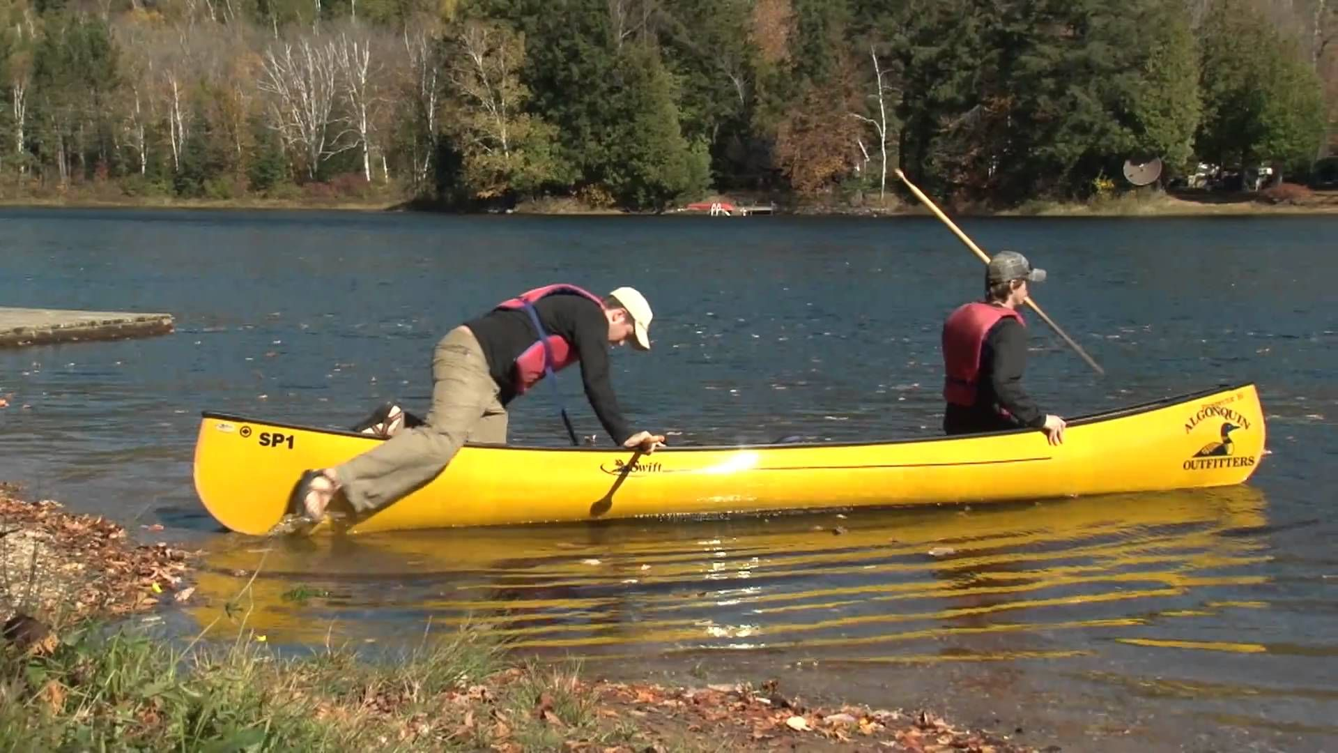 How to load your canoe at the water's edge