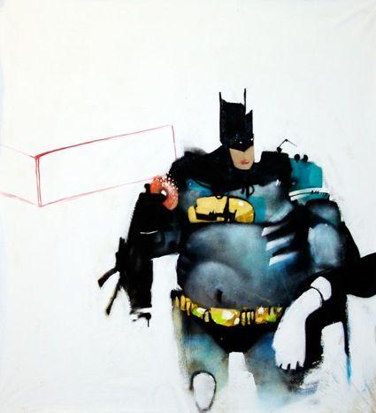 Brisbane Australia Artist Anthony Lister Superhero Painting Superhero Art Street Art