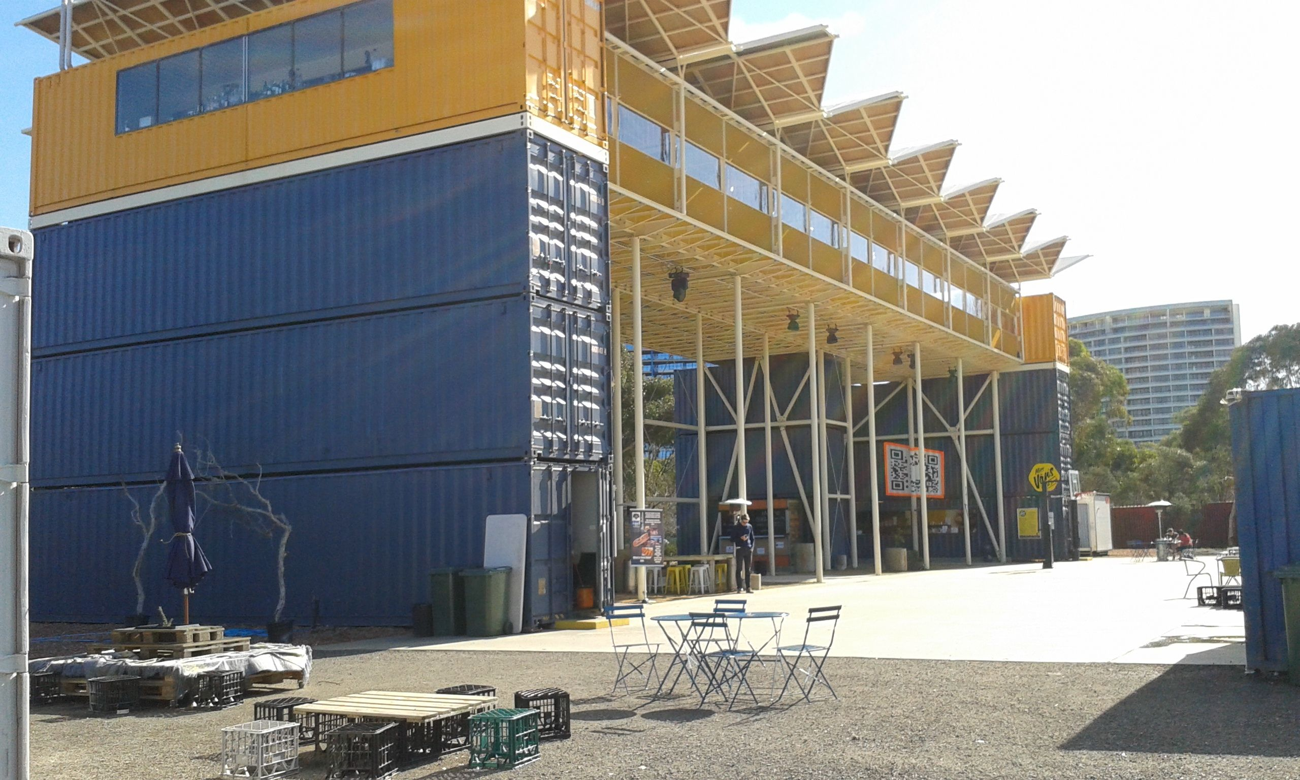 Westside Acton park stage 1 Canberra pop up village shipping