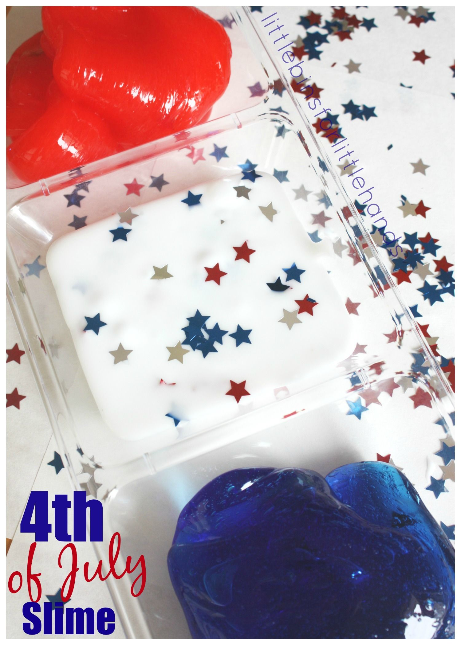 How To Make 4th Of July Slime For Summer Science