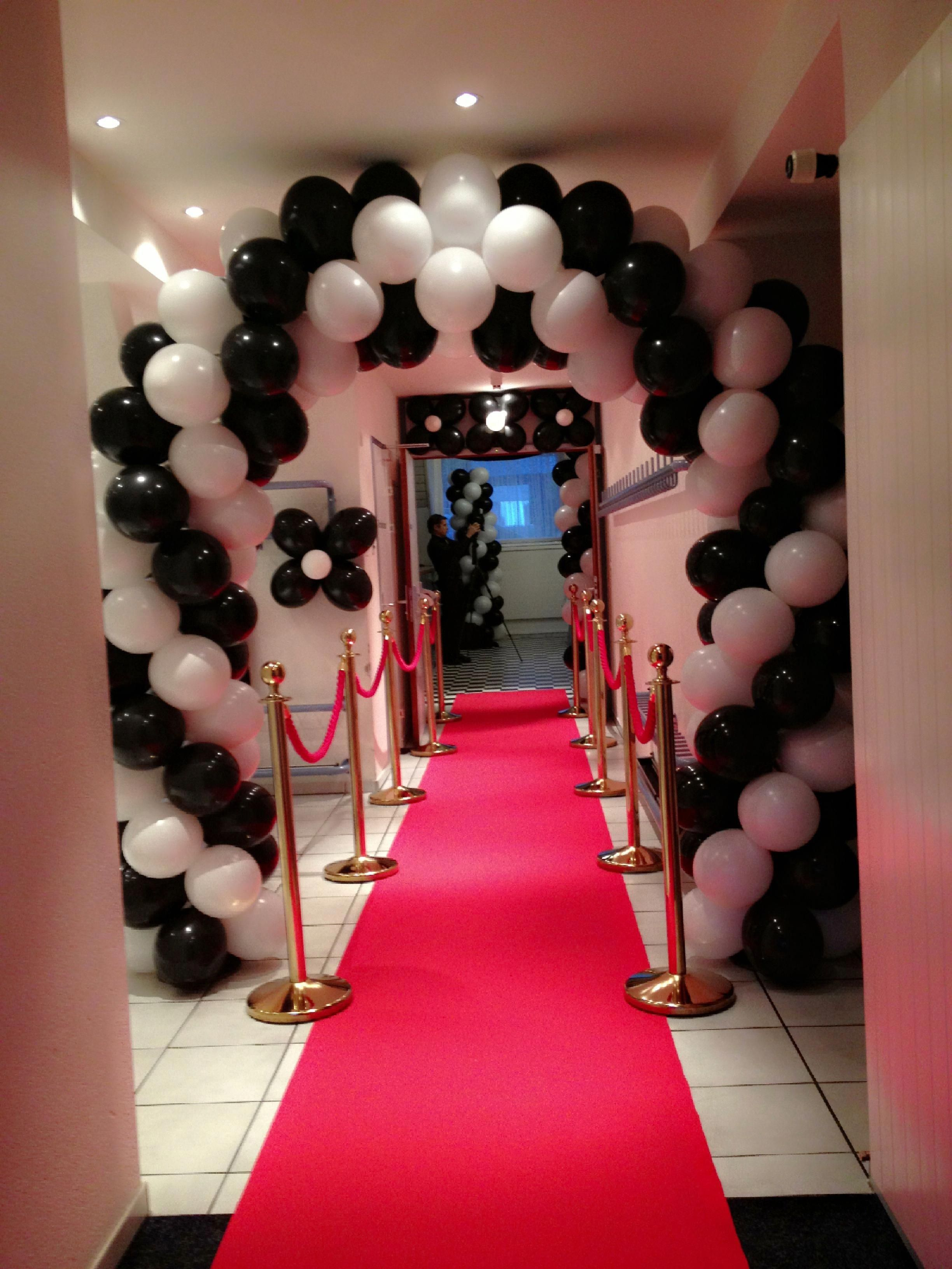 Red Black White Organic Balloon Arch Balloon Arch Black And