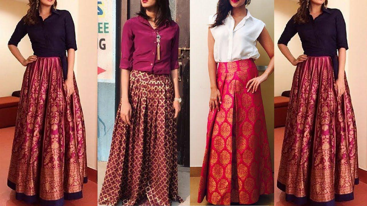 bb60274ee Brocade lehenga skirts | Indo western Brocade skirts | Brocade fusion we.