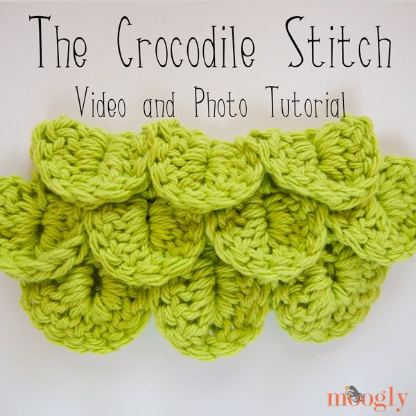 How to Crochet the Crocodile Stitch: Video and Photo Tutorial ...