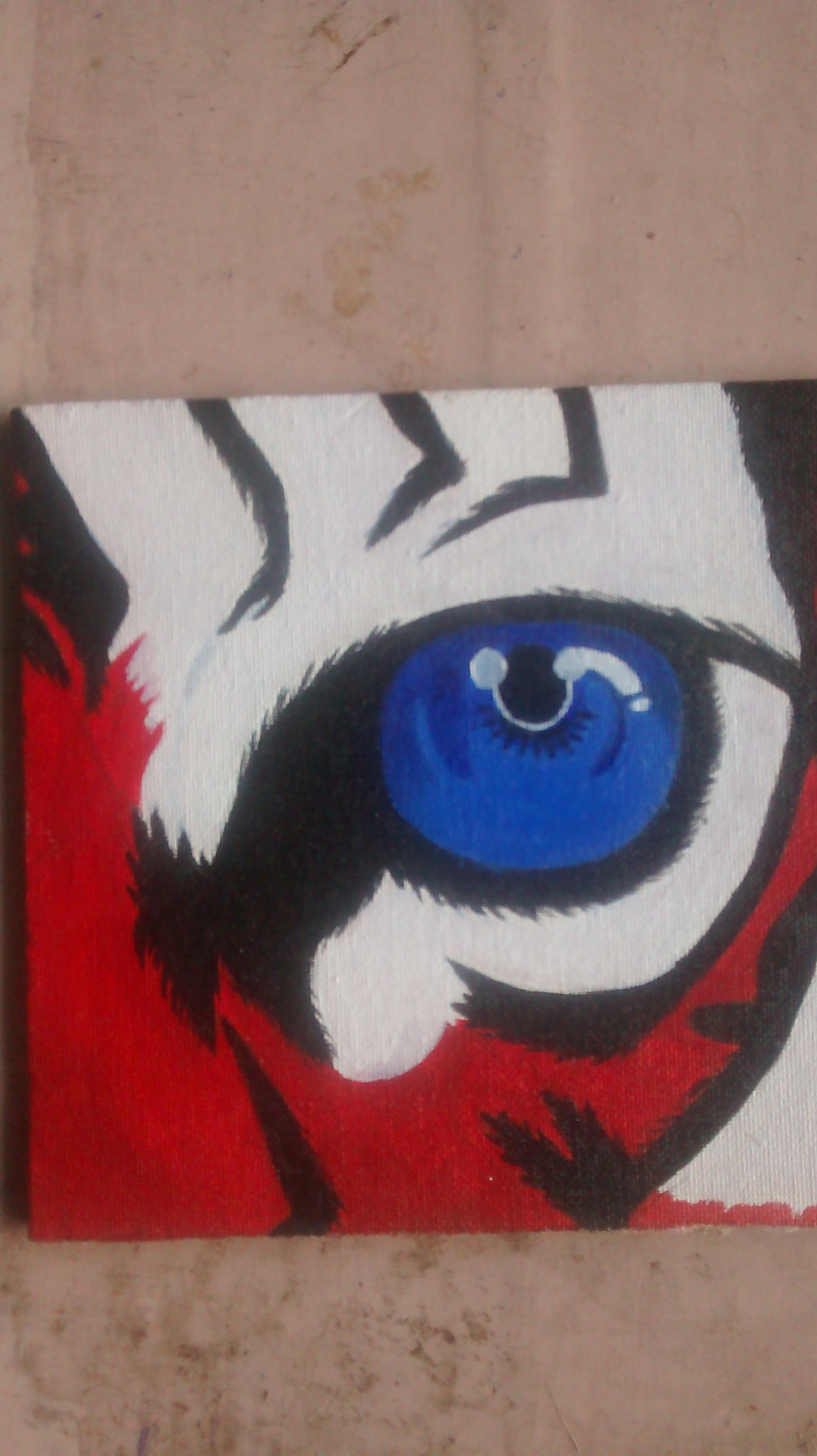 My painting on self prepared canvas