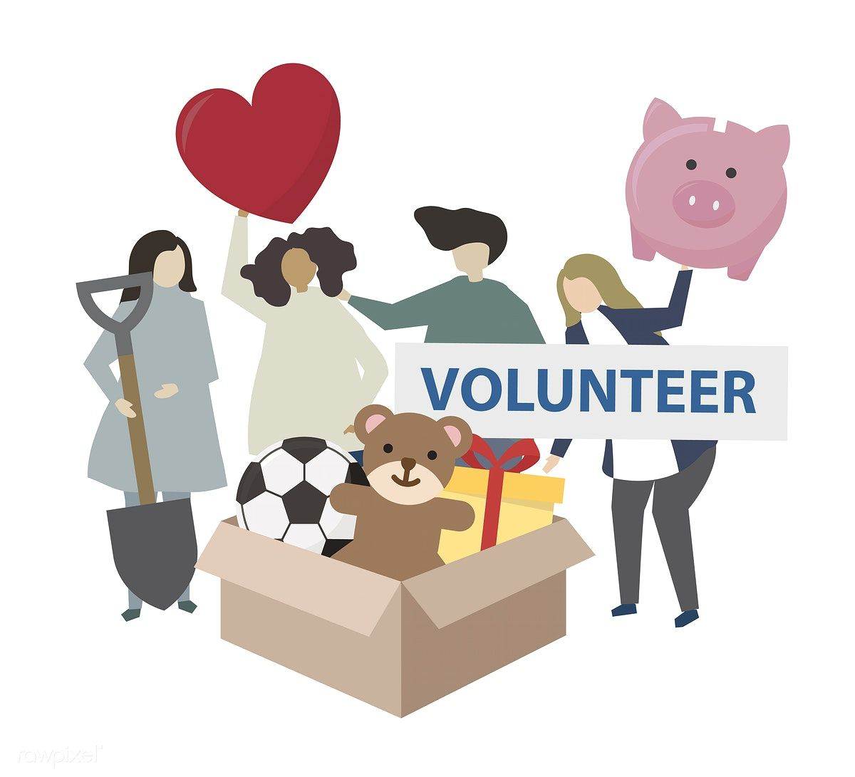 Download Premium Vector Of Donation And Volunteering Community Service Community Service Volunteer Best Iphone Wallpapers