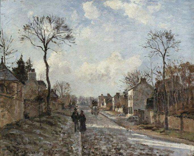 Louveciennes & Pontoise (1872) by Camille Pissarro (French, 1830-1903)