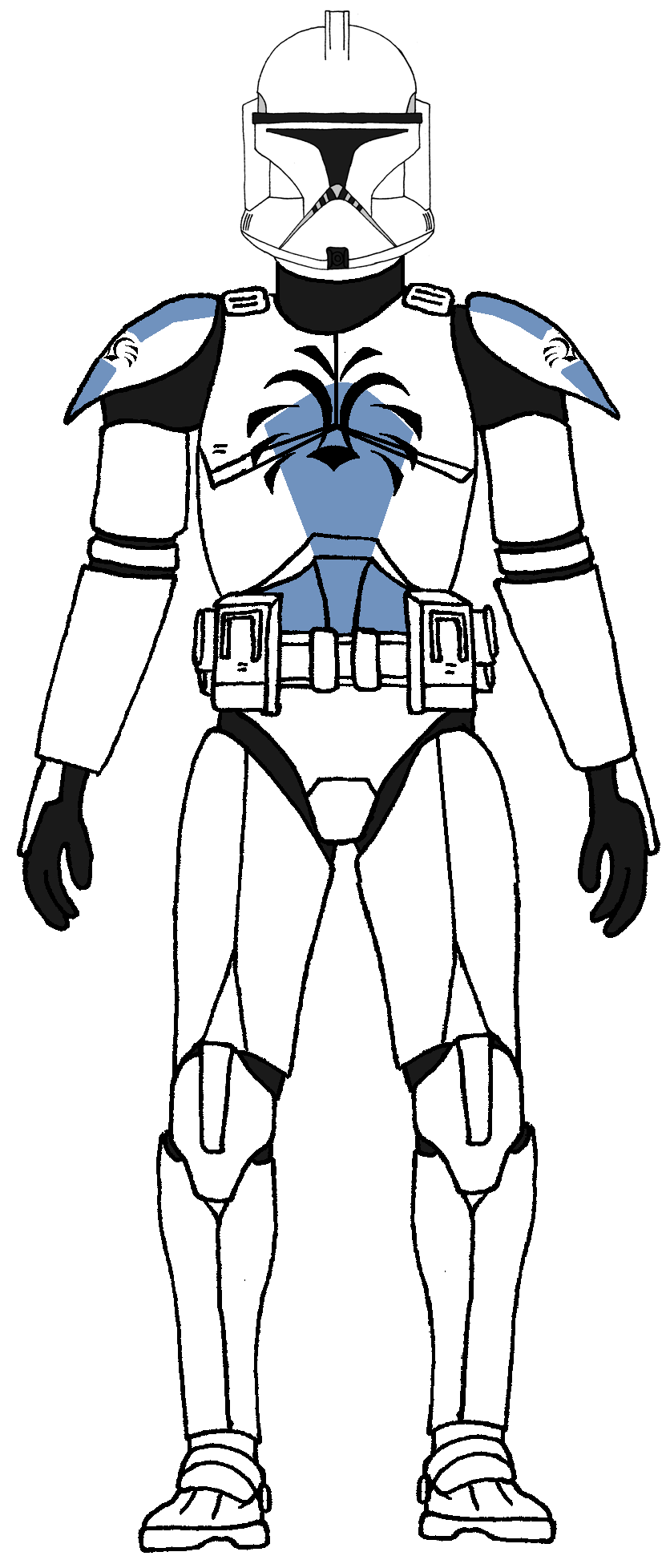 Clone Trooper Lieutenant Trap 1 Star Wars Clone Wars Star Wars Drawings Star Wars Trooper