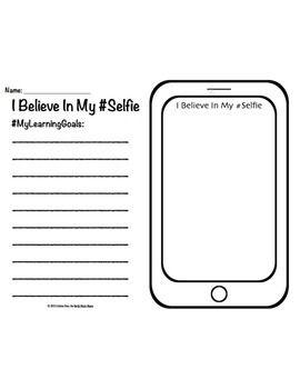 Growth Mindset Motivational Poster Set & Worksheet #Selfie