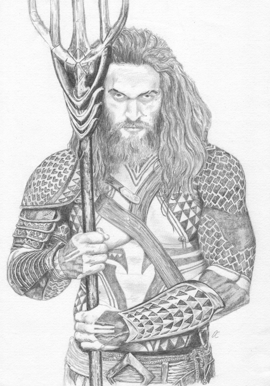 Aqua Man - Pencile Drawing - The Justice League - Fan Art Print By Iamdwaine On Etsy | Comics In ...