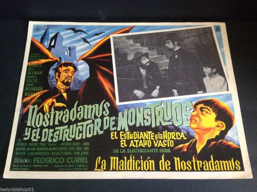 """Nostradamus y el Destructor de Monstrous Lobby Card (16 1/2"""" x 11 1/2"""")"""