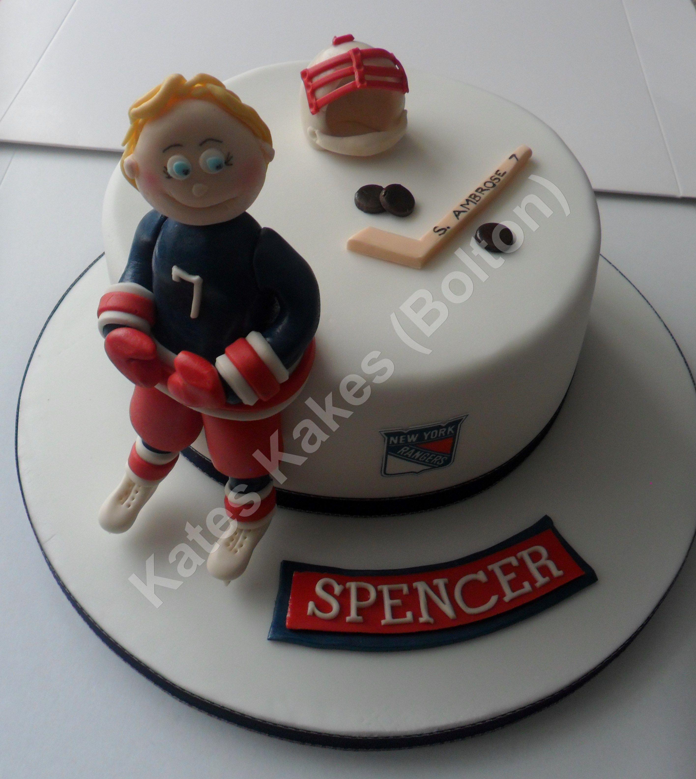 Ice Hockey Cake Hockey Pinterest Hockey cakes Cake and