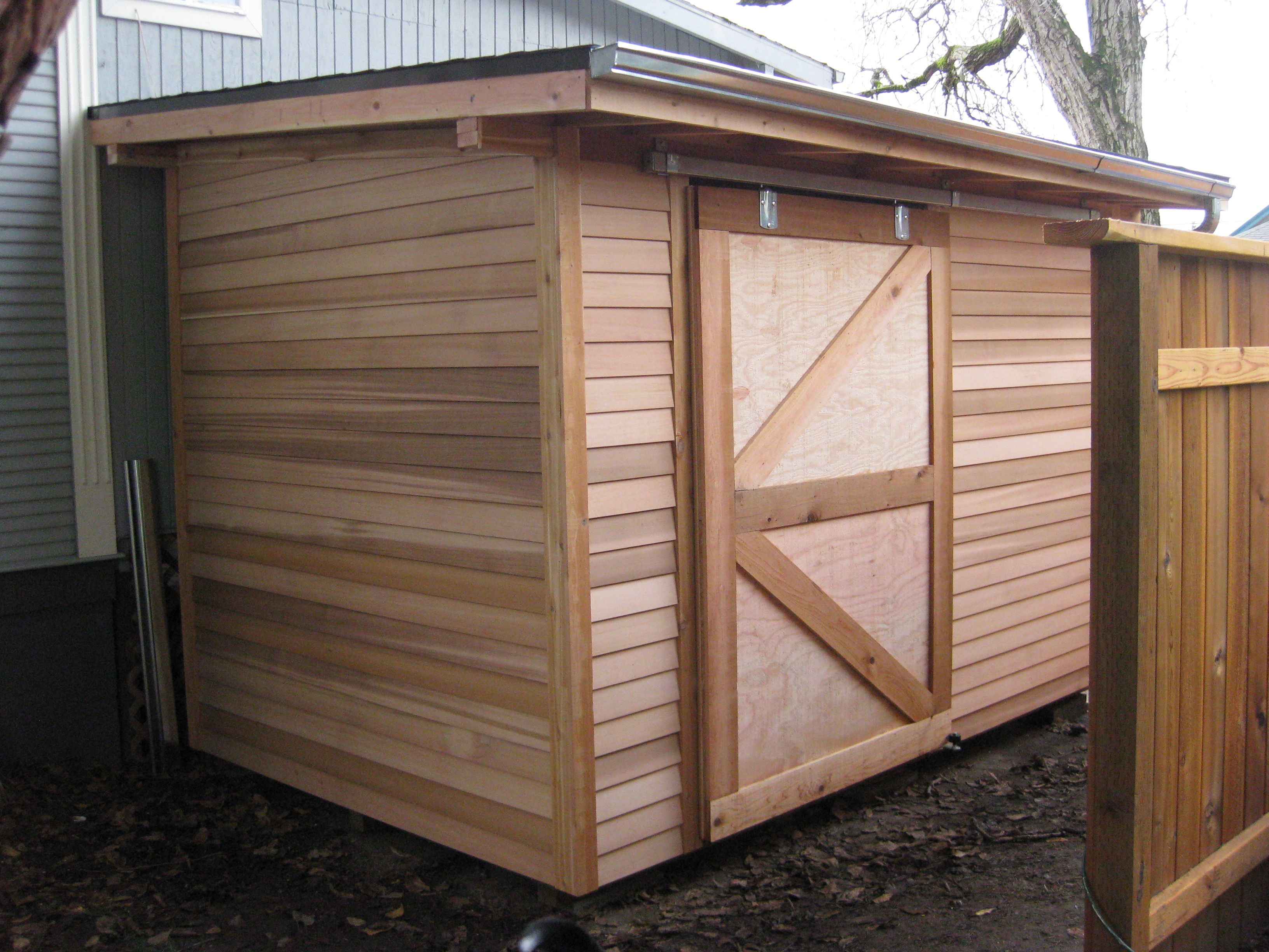 Custom garden shed with sliding door google search for Outdoor sliding doors