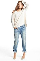 7 For All Mankind® Boyfriend Jeans & Free People Cotton Pullover