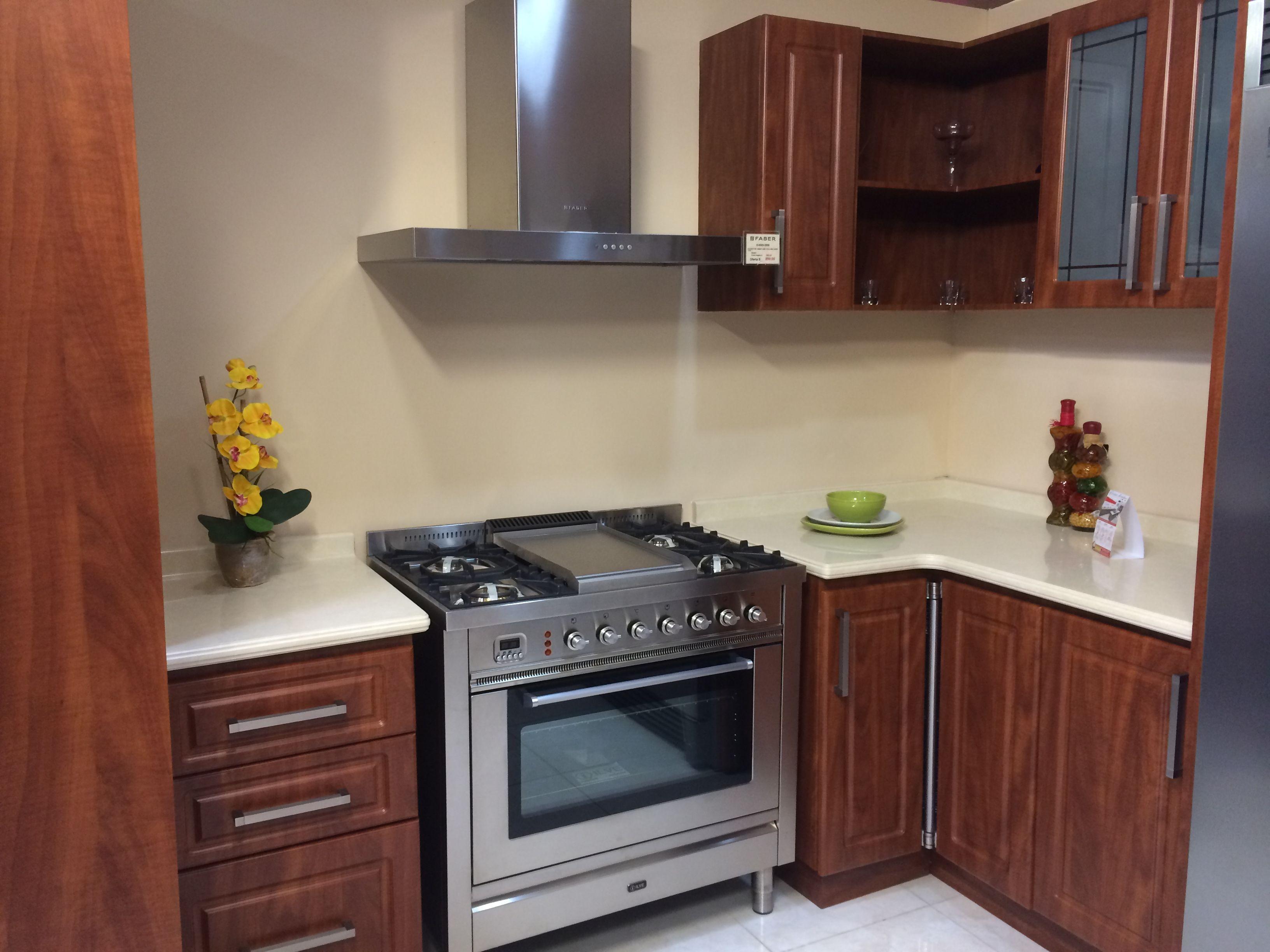 Cocina termoformada en PVC , color caoba   Cocinas Fabricadas por ...