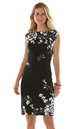 dcbebb67 Women's Chaps Printed Pleated Sheath Dress | Shopping | Dresses ...