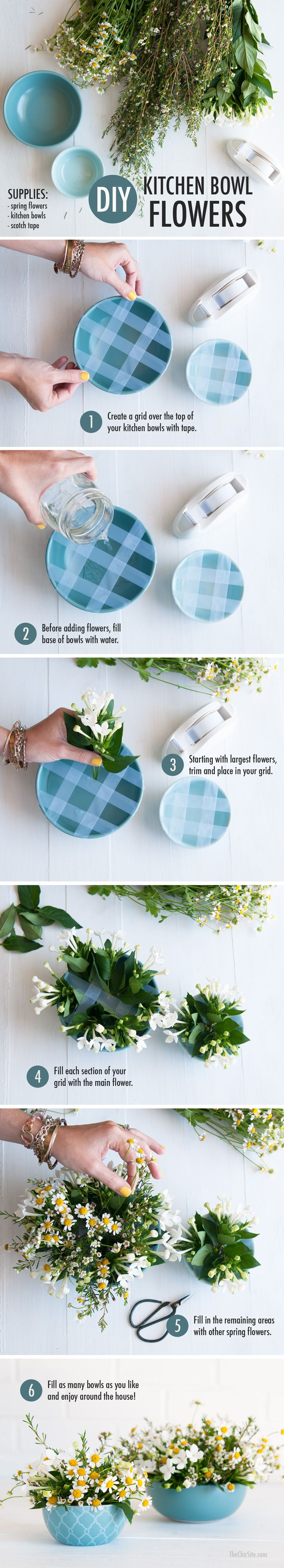 Flowers in a Kitchen Bowl | Bowls, Flower and Flower arrangements