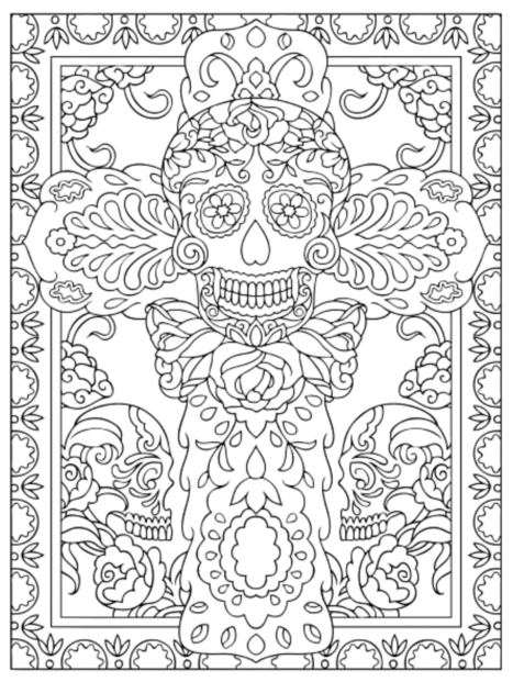 Creative Haven Day Of The Dead Coloring Book, Dover Publications ...