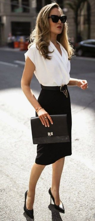 26 MOST PROFESSIONAL WORK OUTFITS IDEAS FOR WOMEN 2019 - DAILYPINMAG #womensworkoutfits