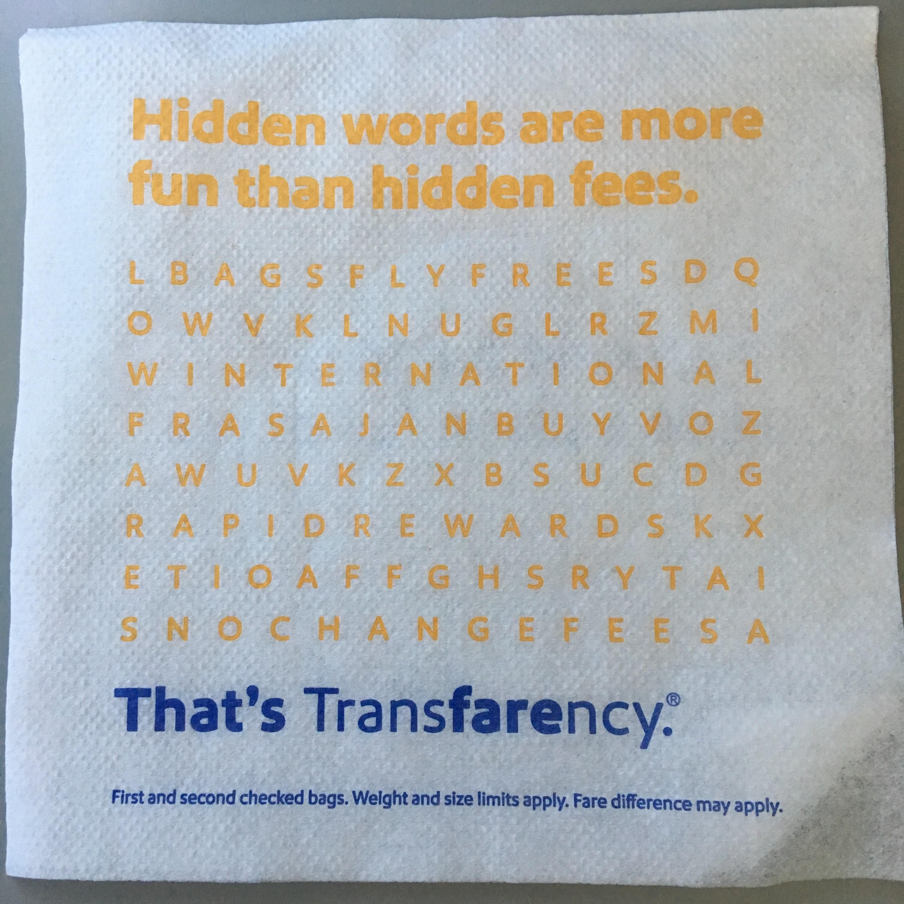 The letters don't align in this Word Search puzzle