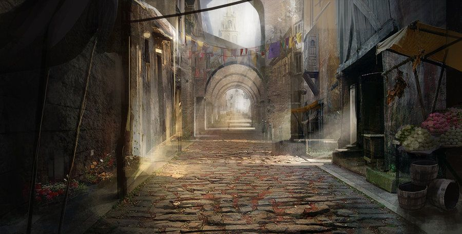 Medieval Street By Gycin on Deviantart