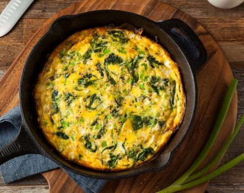 Koolhydraatarme quiche met spinazie | Atkins Low Carb Expert