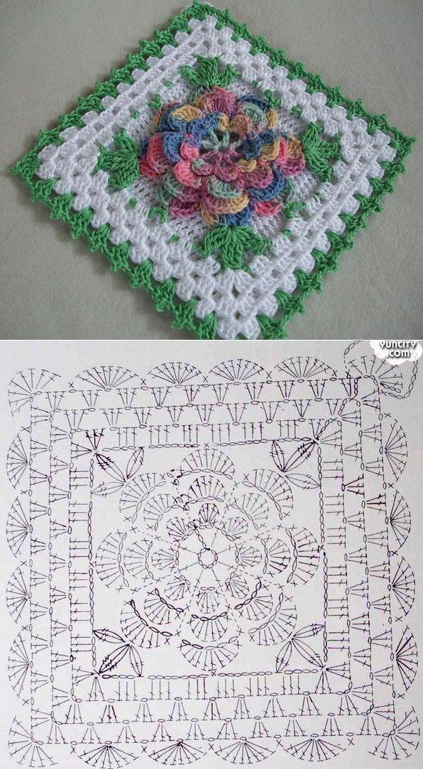 PUNTOS | Crochet, Crochet granny and Squares
