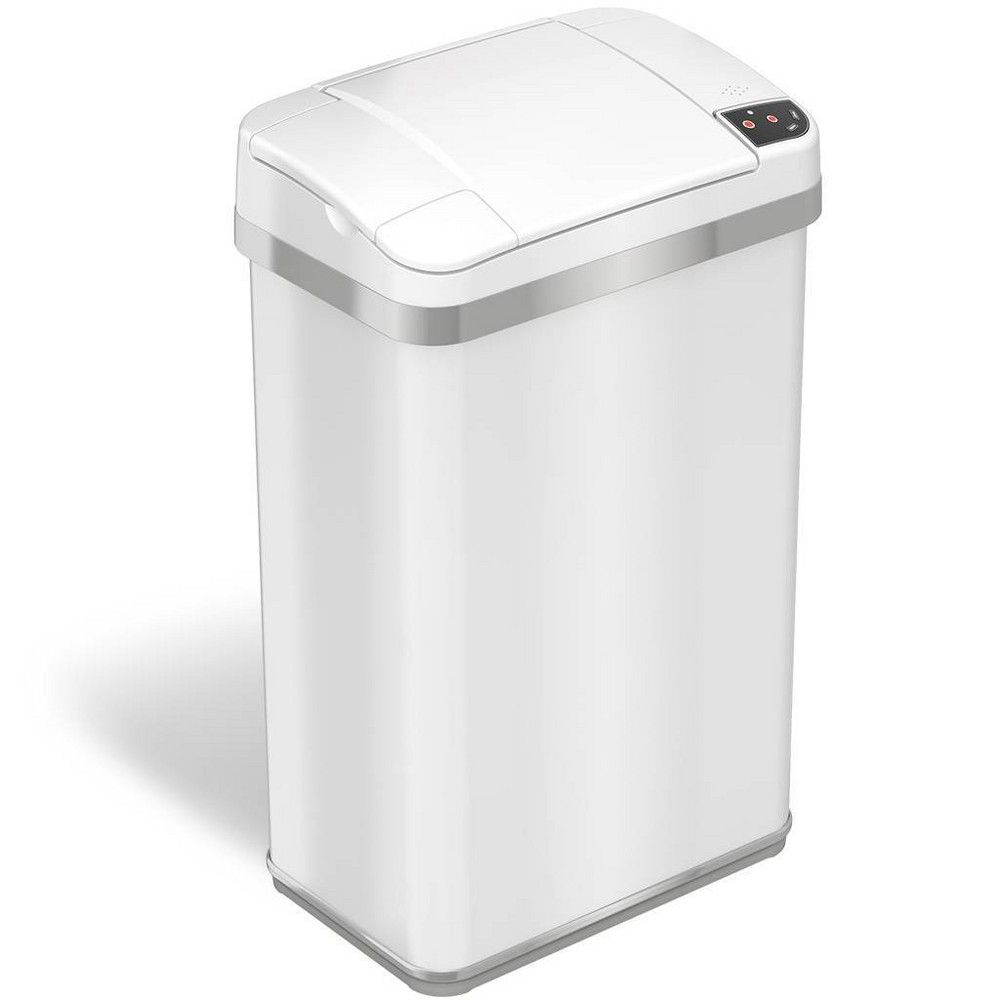 Download Wallpaper White Stainless Steel Kitchen Trash Can