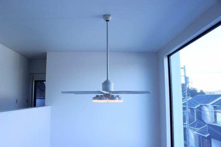 シーリングファン 傾斜天井対応 軽量 薄型 勾配 Humming デザイン照明