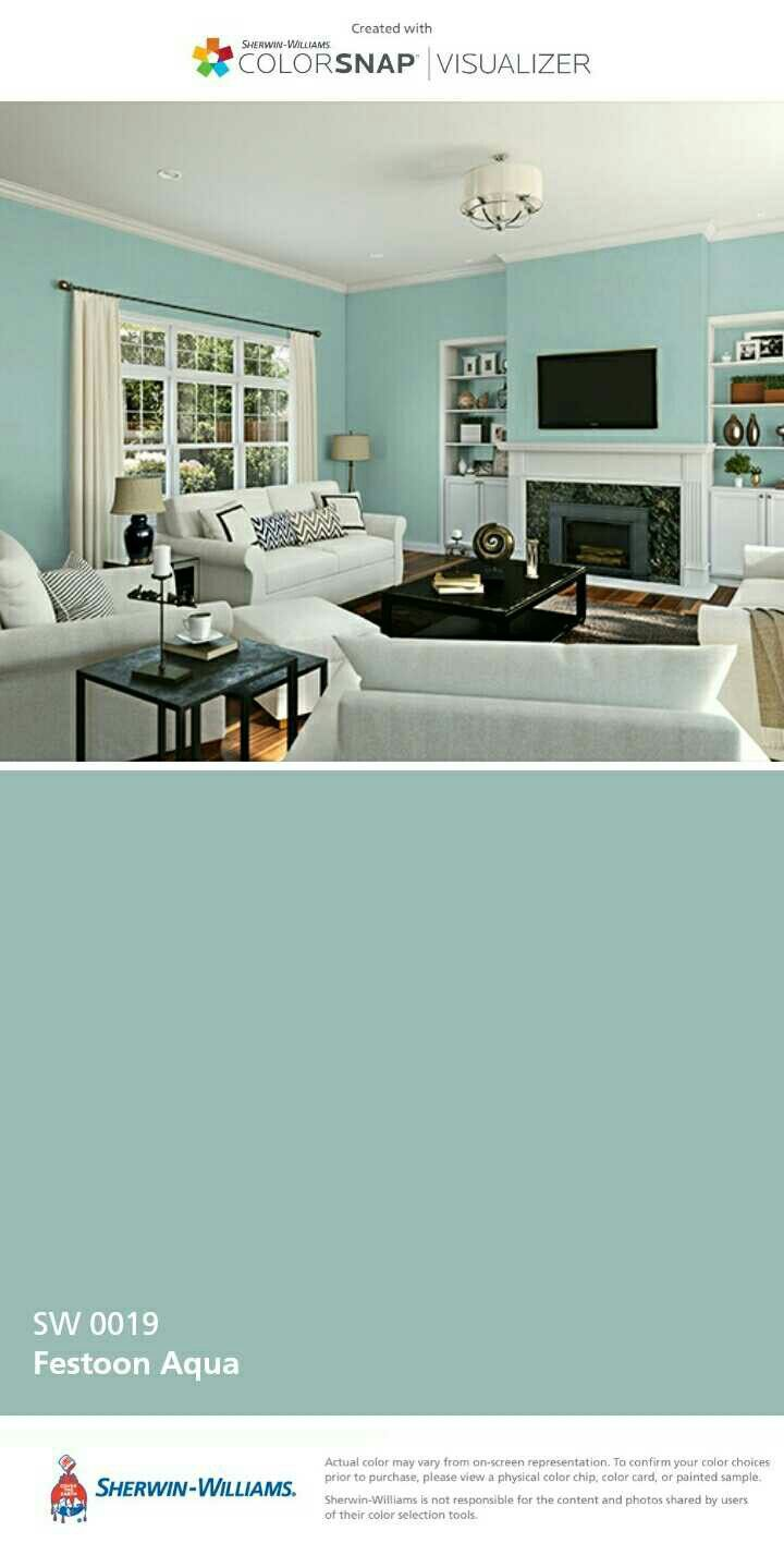 As Much As I LOVE Dark Colors, My Office Is On The Shaded Side Of The  House. I Am Considering A Brighter Color. Festoon Aqua For Home Office