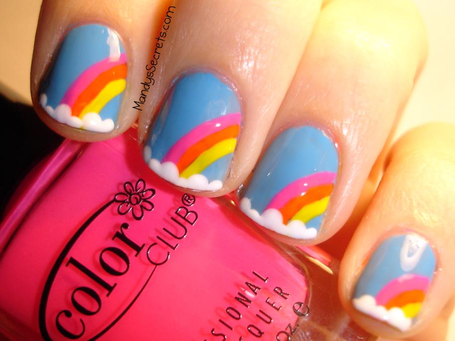 Rainbow Fingernails | MandysSecrets: 31 DAY CHALLENGE -- Day 9: Rainbow  Nails - Rainbow Fingernails MandysSecrets: 31 DAY CHALLENGE -- Day 9