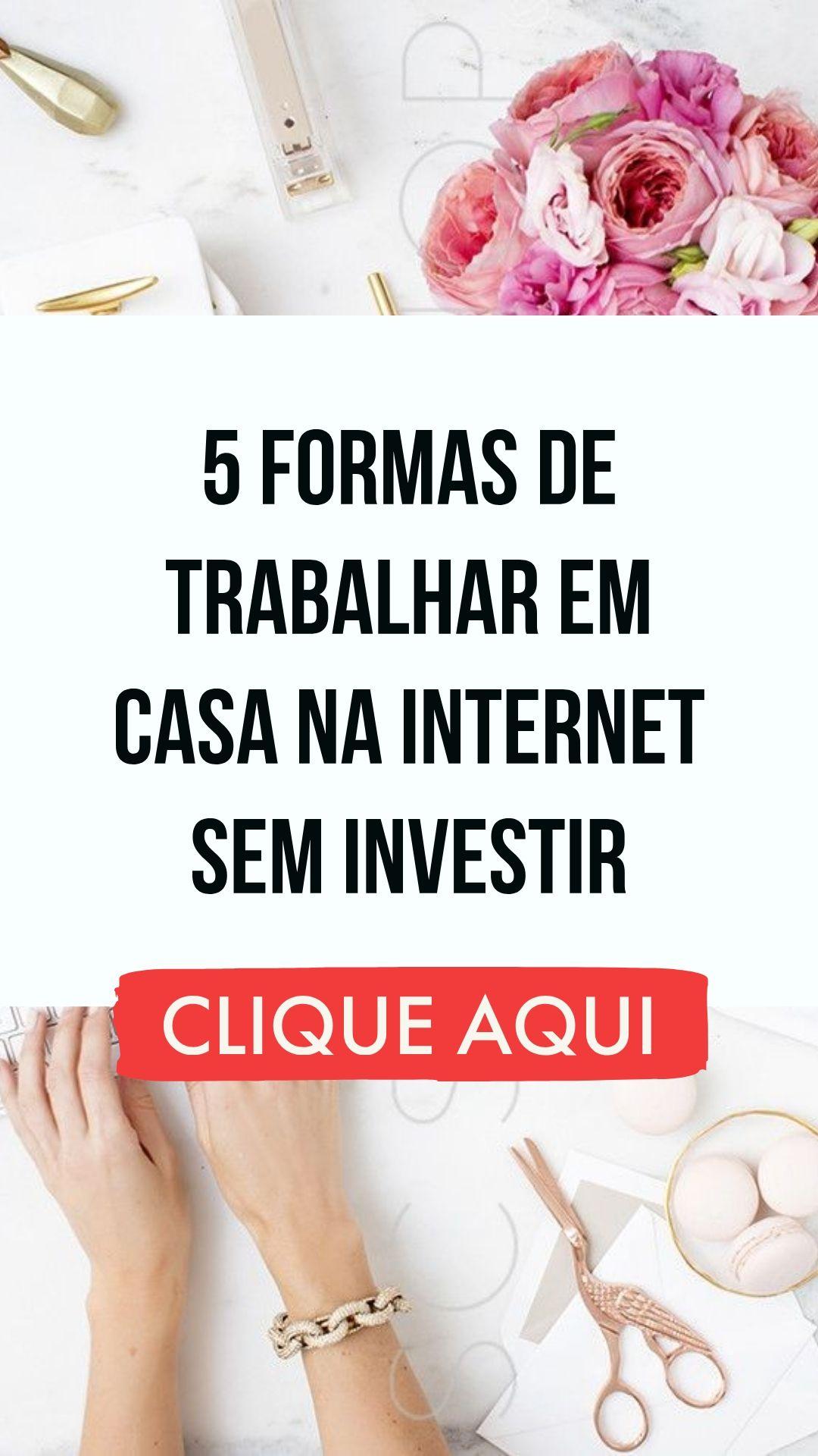 ►5 Formas de Trabalhar em Casa na Internet SEM INV...