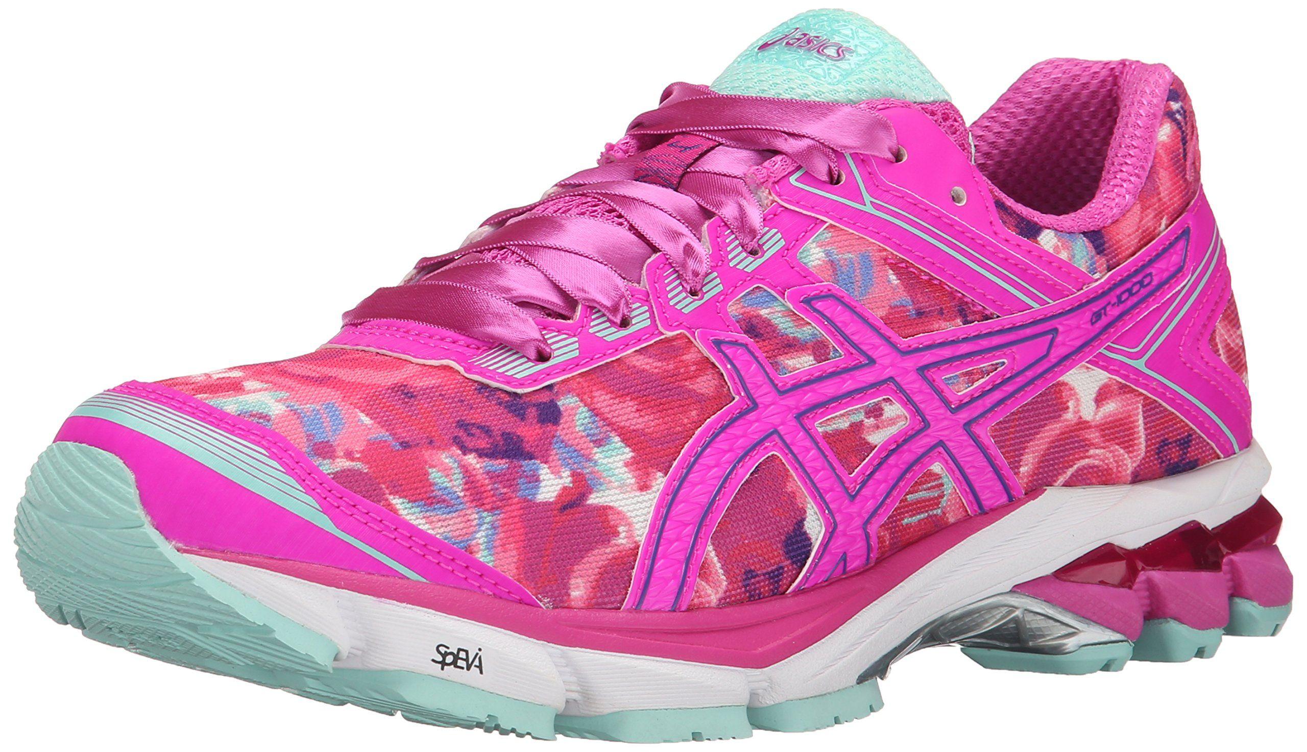 ASICS Womens GT1000 4 PR Running Shoe Pink GlowHot Pink