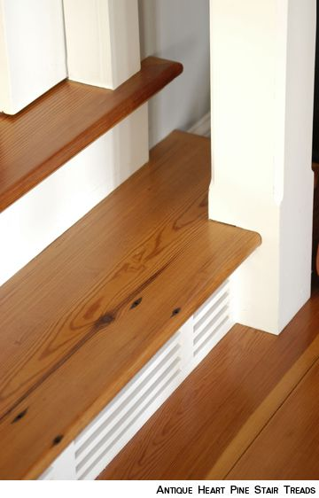 Antique Heart Pine Stair Treads
