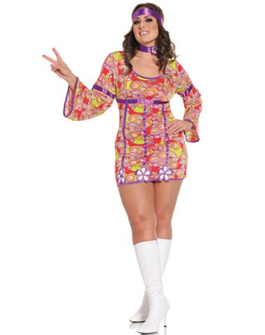 Free Love Adult Womens Plus Size Costume