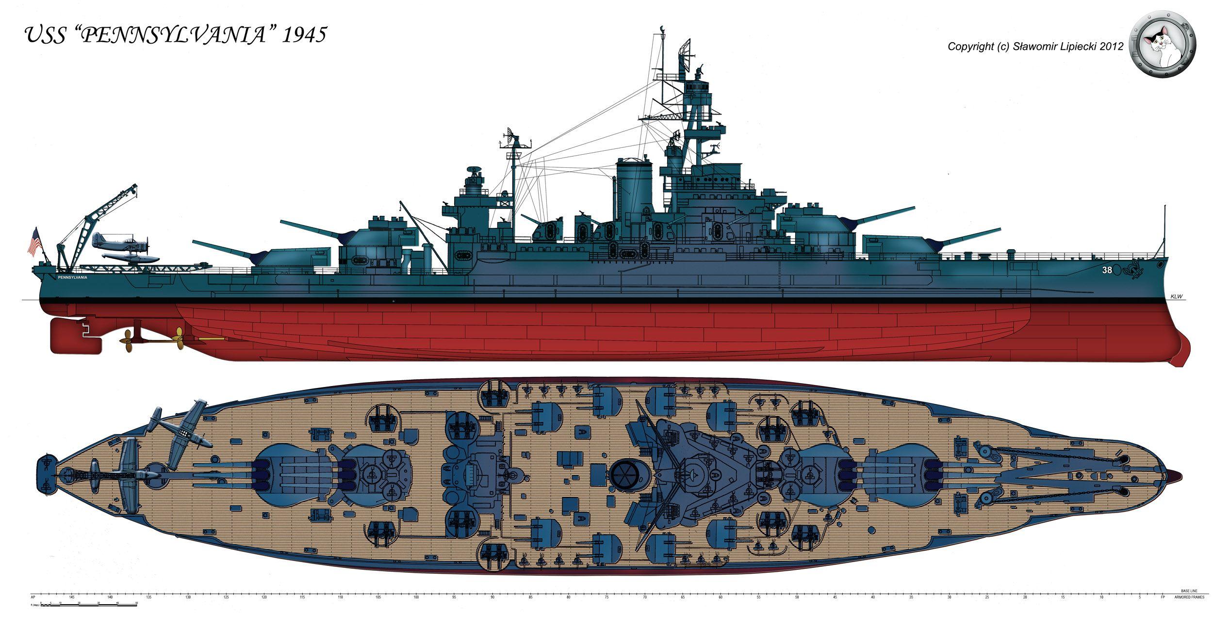 the battleship uss pennsylvania in her final 1945. Black Bedroom Furniture Sets. Home Design Ideas