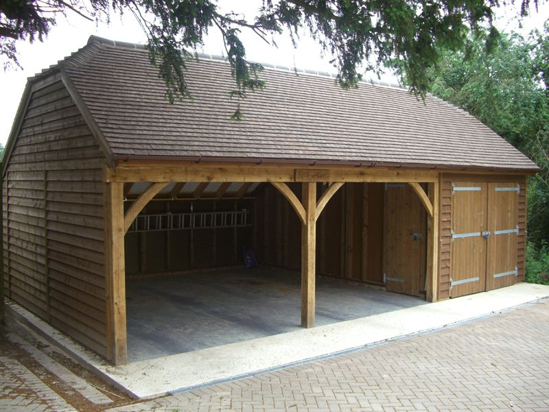 Wood garage uk google s gning country home garage for Country carports