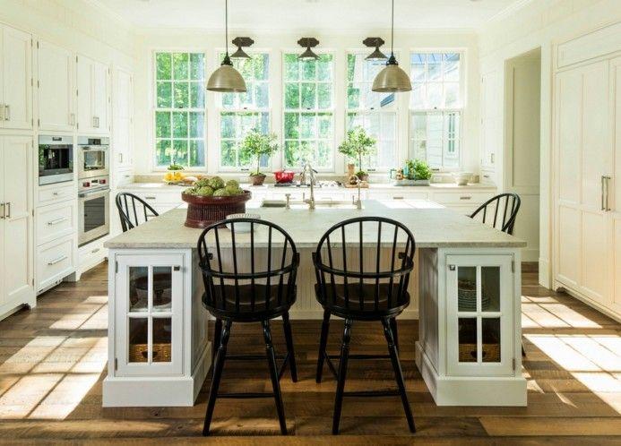 Helles Küchen Design mit großer Kücheninsel | Küche | Pinterest