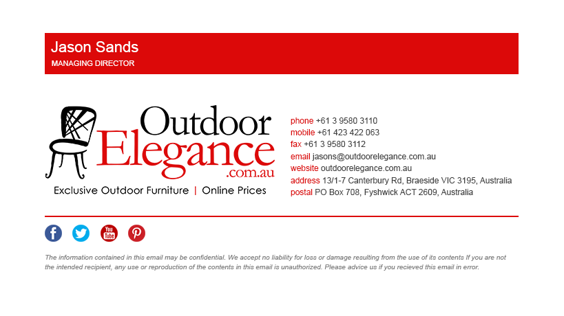 Outdoor Elegance  Html Email Signature On Behance  Inspiration