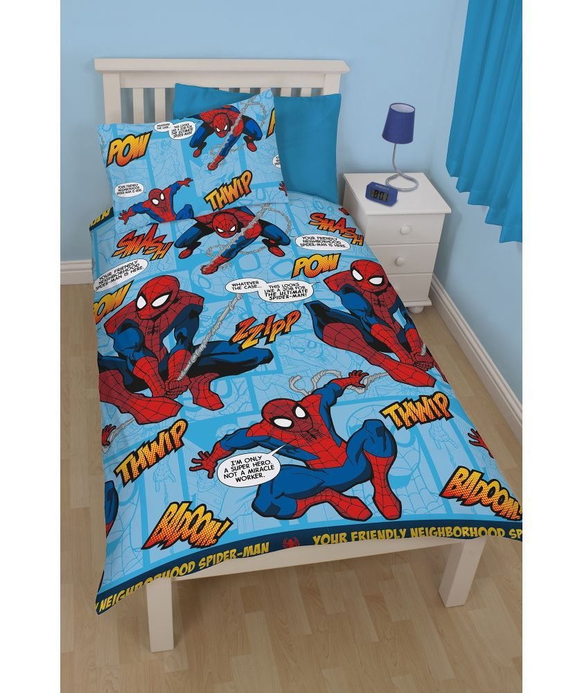 buy ultimate spider man duvet cover set single at argos. Black Bedroom Furniture Sets. Home Design Ideas