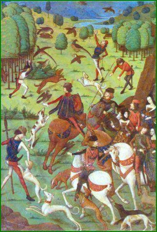 La Chasse Au Moyen Age : chasse, moyen, Chasse, Chiens, Chevaux, Faisans, Oiseaux, Moyen, Histoire,